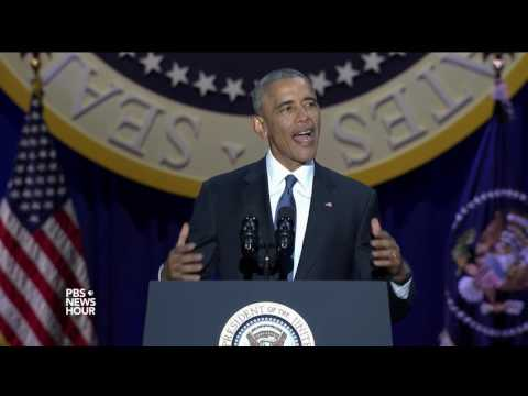 Obama: Democracy requires 'a basic sense of solidarity'