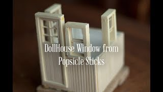 Make a tiny Wooden Window – Series How to make a House with Popsicle Stick
