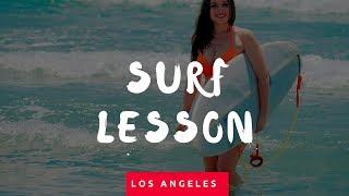 Самый позитивный урок серфинга   Golden Wave Surf School Los Angeles