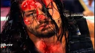 Triple H Broke Roman Reigns Nose Highlights Full Match  Brutal Bloody Fight 22216