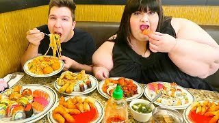 HUGE Las Vegas Chinese Buffet  All You Can Eat  MUKBANG