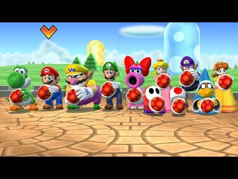 Mario Party 9 - Gomba Bowling & Other Minigames (Wario Gameplay)  Cartoons Mee