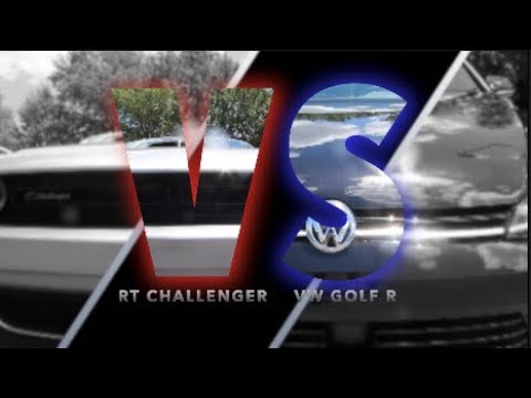 New GOLF R VS Dodge Challenger RT | Why are so many People Driving Challengers?