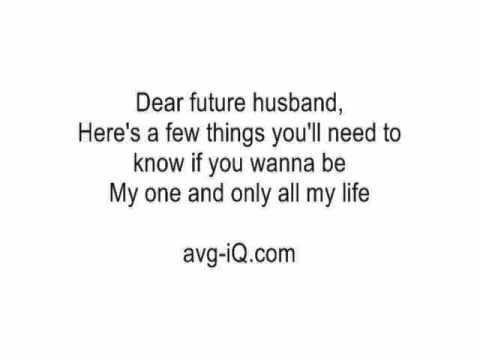 Dear Future Husband by Meghan Trainor (Guitar Karaoke Version) no voiceover