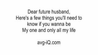 Dear Future Husband by Meghan Trainor (Guitar Karaoke Version) no voiceover