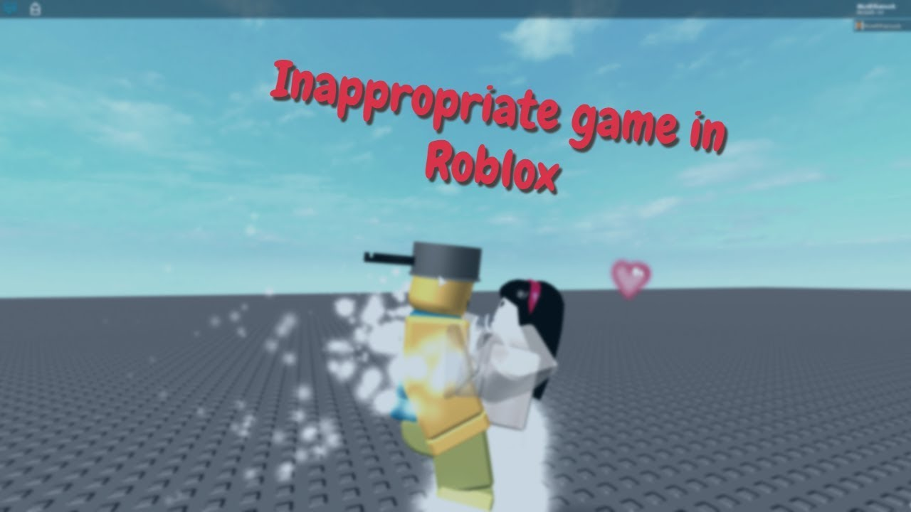 inappropriate game in Roblox