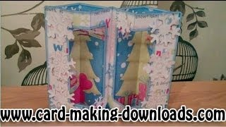How To Make A Double Window Box Card Www Card Making Downloads Com