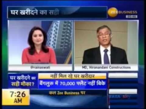 Dr Niranjan Hiranandani on Construction ban lifted in Mumbai-Zee Business