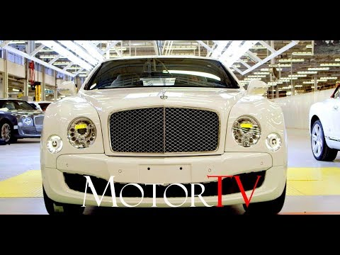 CAR FACTORY: BENTLEY MULSANNE PRODUCTION LINE (NO MUSIC) l Pyms Lane in Crewe  (UK)