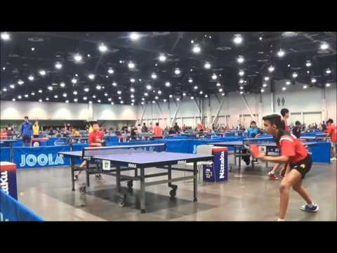Henrik Zhang in 2016 Table Tennis US Open