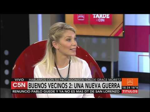 C5N - Cine: entrevista a Chloe Grace Moretz de Buenos Vecinos 2