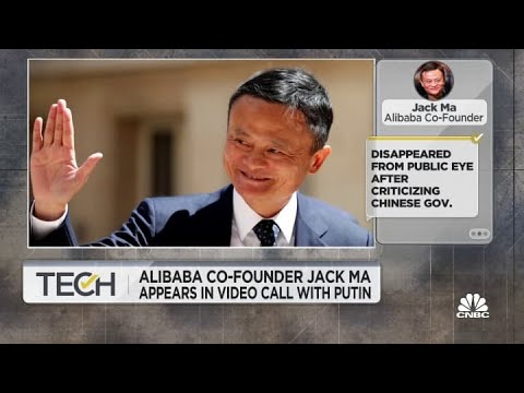 Alibaba co-founder Jack Ma appears in video call with Vladim
