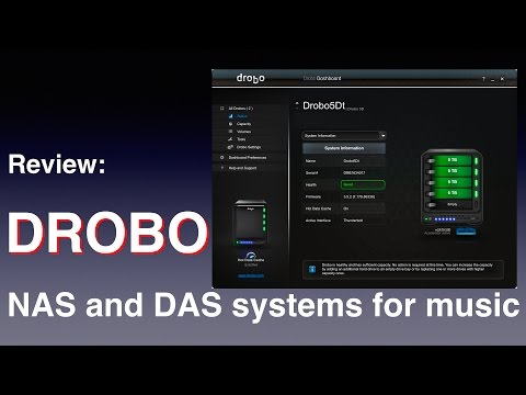Drobo NAS and DAS systems for music