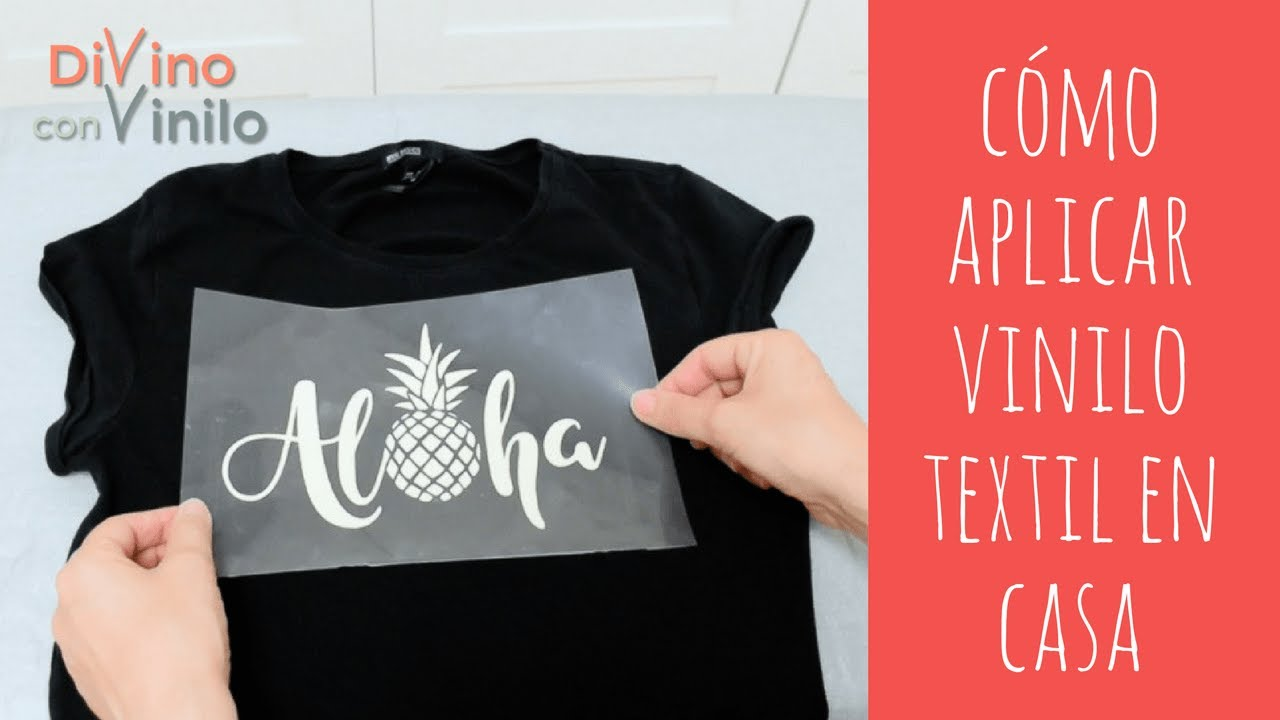 a179f65ca Estampado con Vinilo Textil sobre una Camiseta