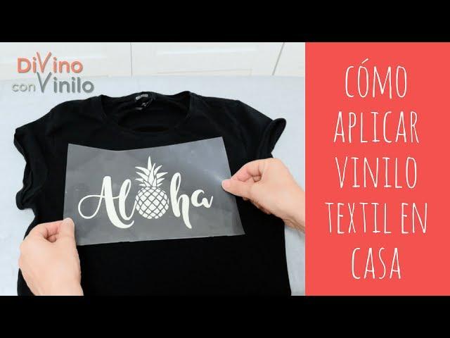Estampado con Vinilo Textil sobre una Camiseta | ESTAMPAR CAMISETAS LOWCOST