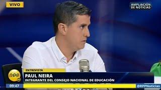 RPP Noticias: Paul Neira, Consejero del CNE, sobre avances en el sector educación