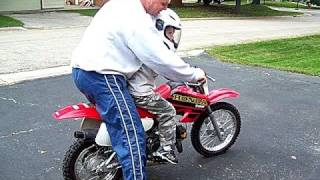 Nathans first Dirt Bike Ride