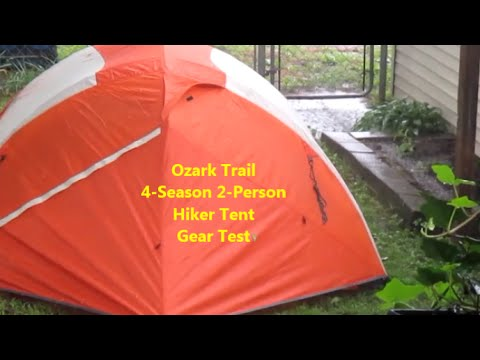 Ozark Trail 4 Season 2 Person Hiker Tent Gear Test & Ozark Trail 4 Season 2 Person Hiker Tent Gear Test - YouTube