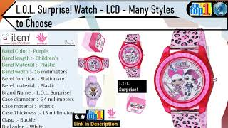 L.O.L. Surprise Kids Watch - LCD - Many Styles to Choose for Girls Surprise