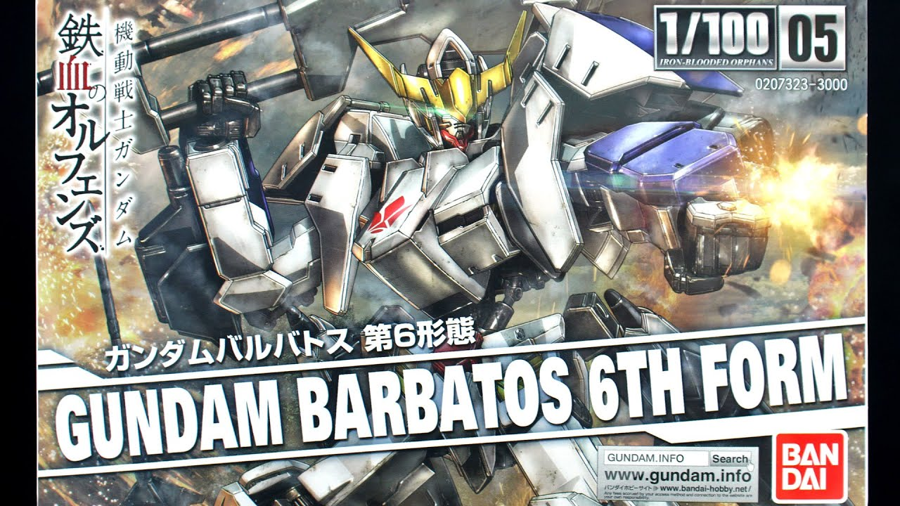 592 - 1/100 Gundam Barbatos 6th Form UNBOXING - YouTube