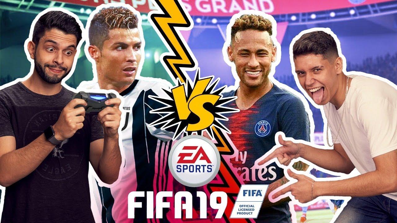FIFA 2019 - NEYMAR x CR7 (A PRIMEIRA PARTIDA!!!)