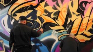 ArtPrimo.com Presents:  Hex TGO and Zerk TKO piecing with Molotow Premium Spray Paint.
