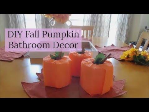 DIY Toilet Paper Pumpkins | Fall Bathroom Decor| Fall 2018 Home Decor