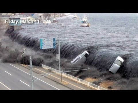 Incredible New Japan Tsunami Footage - This man risked his Life to film