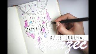 BULLET JOURNAL marzec // madeline