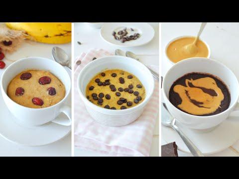 3 Mugcake SALUDABLES | SIN MICRO Y SIN HORNO | VEGANOS