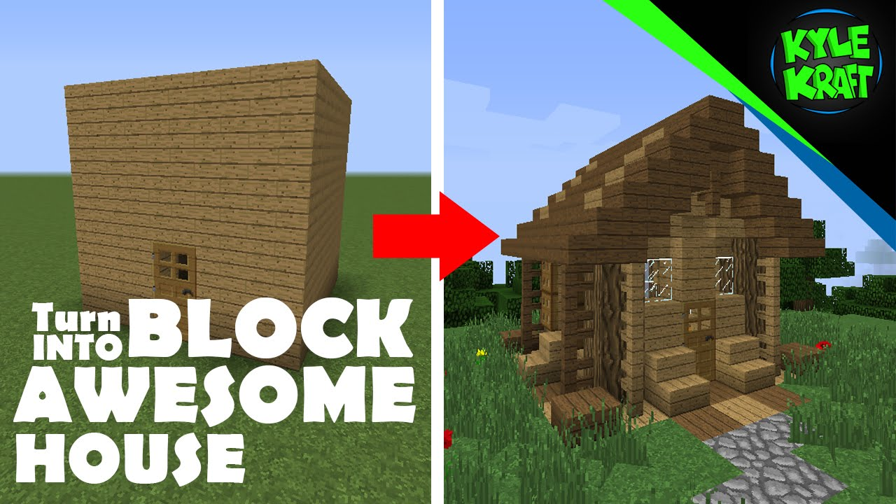 Minecraft | Small Survival House | Turn 5x5 Block into Awesome ...