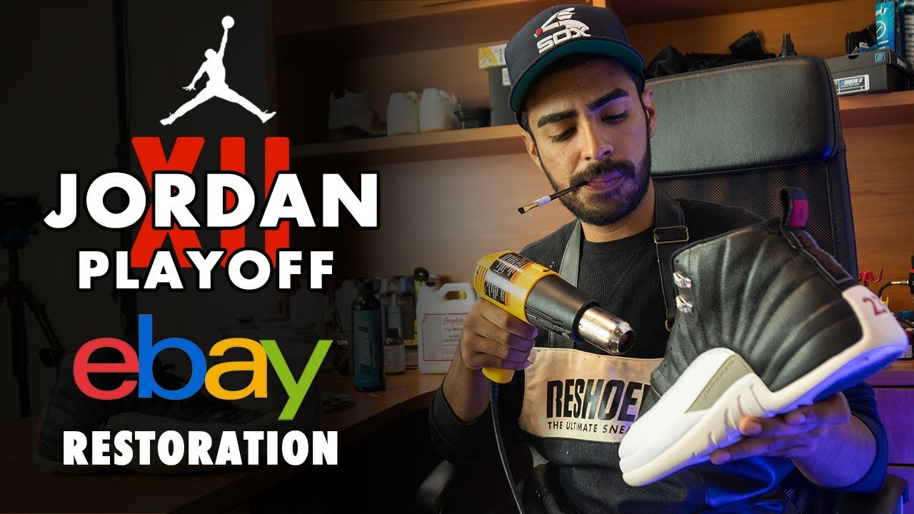 6c860082076174 Beat Air Jordan 12 Playoff eBay Restoration by Vick Almighty - YouTube