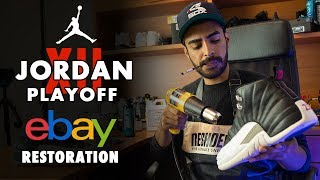Beat Air Jordan 12 Playoff eBay Restoration by Vick Almighty