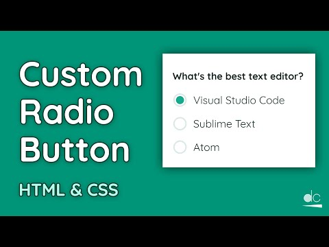 How To Create A Custom Radio Button - HTML & CSS Tutorial