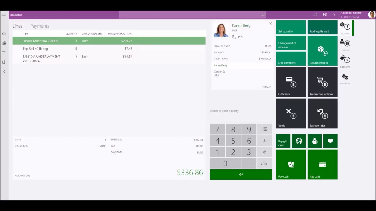 Point Of Sale Transaction Features Microsoft Dynamics 365