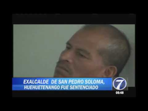 Sentenciaron a exalcalde de San Pedro, Soloma