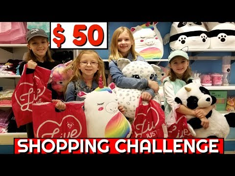 BIG SISTERS vs LITTLE SISTERS $50 Shopping Challenge