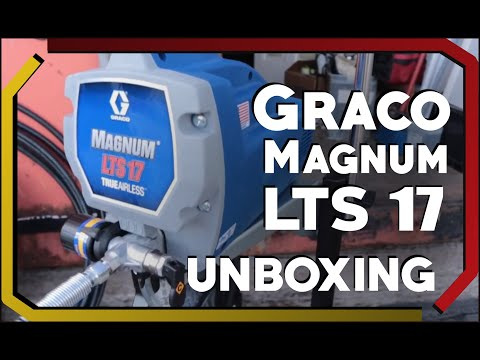Graco LTS 17 Airless Paint Sprayer Unboxing