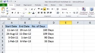 How To Calculate Number Of Days In Excel