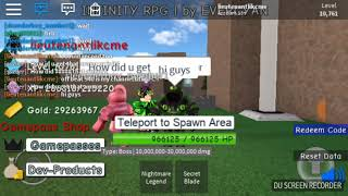 First Secret in Roblox Infinity
