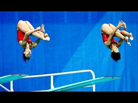 Minxia Wu & Tingmao Shi Won Gold for Diving in Women's synchro 3m springboard