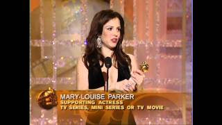 Weeds Star Mary Louise Parker Wins Best Supporting Actress TV Series - Golden Globes 2004