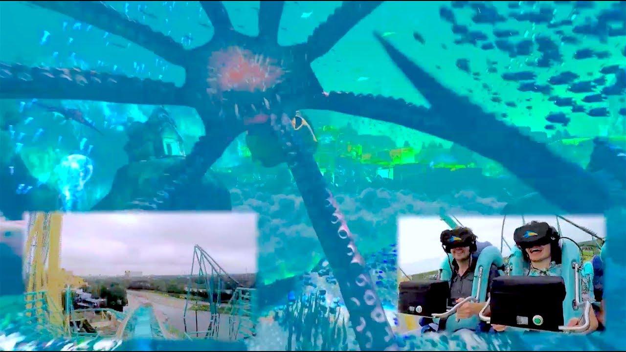 Download FULL POV Kraken Unleashed VR roller coaster experience at SeaWorld Orlando