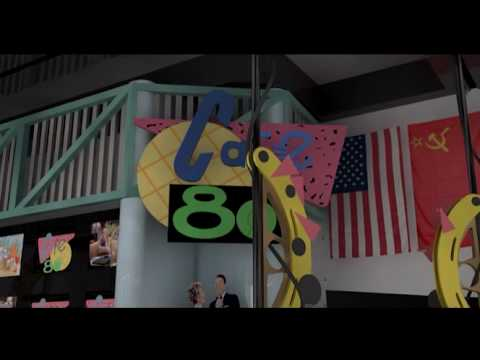 Cafe 80's in CGI (from Back To The Future part II)