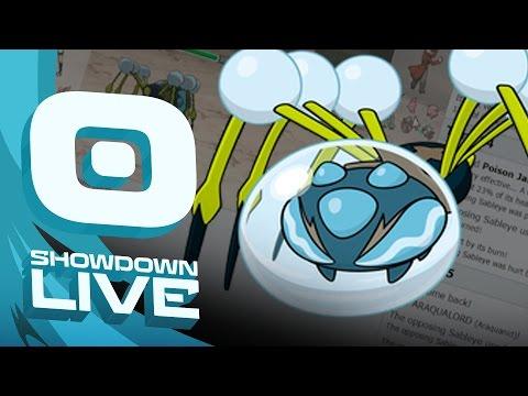 Pokemon Sun and Moon! Showdown Live: Enter Araquanid - Araquanid Showcase!