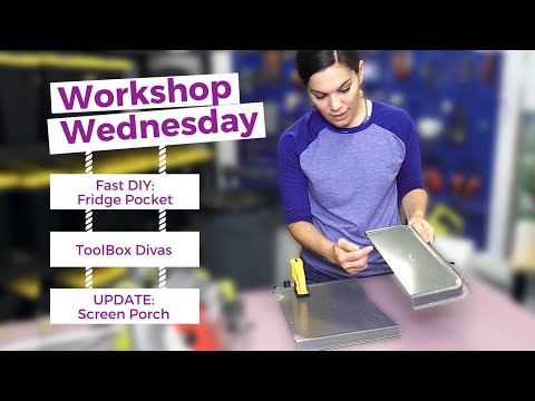 Workshop Wednesday: DIY Fridge Pocket & More!