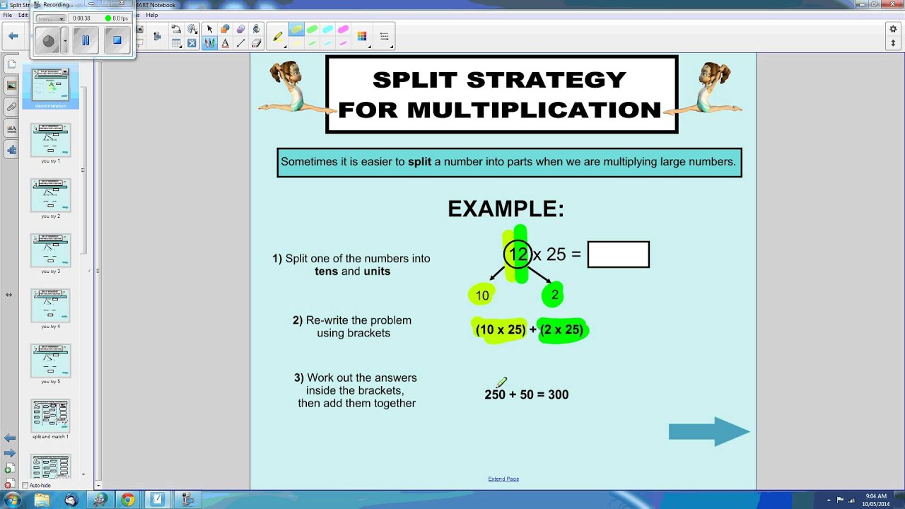 Split Strategy for Multiplication - YouTube