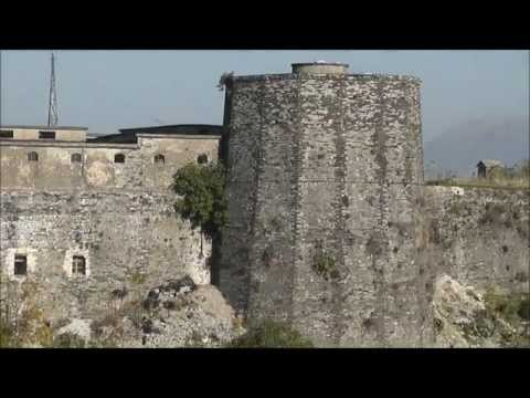 Views of Gjirokaster City and  Argyrokastro Castle, Albania