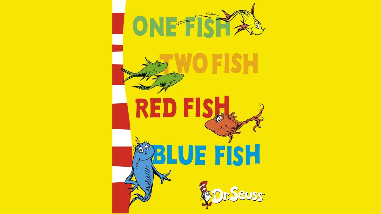 One fish two fish red fish blue fish audio book youtube for One fish two fish