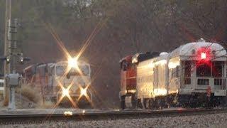 Bnsf Inspection Train Meets Coal Train Led Executive Mac